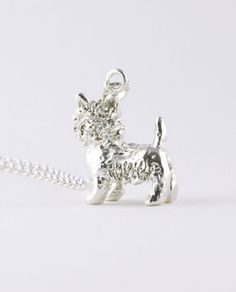 Handcrafted sterling silver 3-dimensional West Highland White Terrier pendant