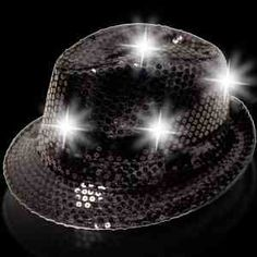 #003-Glimmer and shine, and light up the night with our sequin funky fedora. This fabulous new light up item will make your night time parties bright. Our sequin LED funky fedora comes with 6 white LED's and 3 AG13 batteries are included and installed and can be replaced. Call us (877) 393-5977 or visit our website at http://promos4u.com/