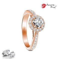 Anillo de oro Rosa 18Kt SKU: RG1830223 Diamante Round 0.42 quilates. Color-H, Claridad VS1 Laboratorio-GIA-DGC(GDL), SKU Diamante: 25680, Precio: $43,066.68 pesos M.N *Consulte términos y condiciones.