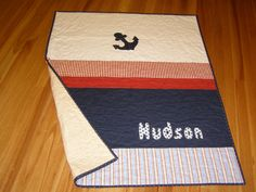 Baby Boy Nautical Cot Quilt  Custom listing by BlackTulipQuilts, $170.00