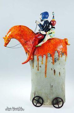 LUKROWANY KOŃ - FORTUNAT POMARAŃCZOWY - Cela37 - Rzeźby