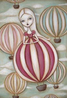 Through The Clouds Fair Rosamund Art by Lauren Saxton