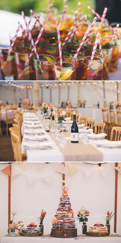 colourful wedding with hessian and wood