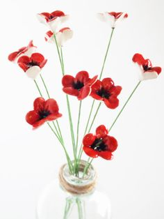 Keramik Blumen 10 handgefertigte teeny tiny Baby von BronsCeramics