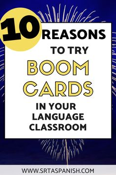 10 Reasons to try Boom Cards in Spanish Class - SRTA Spanish Spanish Teacher, Spanish Class, Teaching Spanish, Google Classroom, Classroom Ideas, Middle School Spanish, Spanish Lesson Plans, Interactive Activities, Beginning Of School