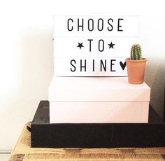 Shine Mini Lightbox, Lightbox Letters, Lightbox Quotes, Message Light Box, Lead Boxes, Marquee Lights, Marquee Sign, Licht Box, Sign Quotes