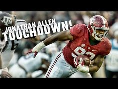 Alabama defensive end Jonathan Allen showed off his athleticism with two remarkable plays Saturday in the Crimson Tide's 33-14 victory over Texas A&M.
