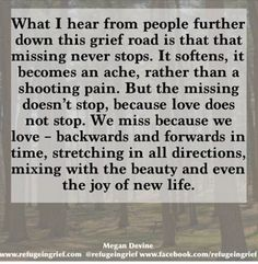Grief/ loss. And the wonderful future we look forward to. John 5:28,29. Psalm 37:10, 11, 29.