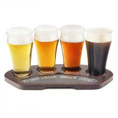 Taste Variety! This craft beer flight set allows the enjoyment of tasting multiple beers at once and the ability to choose which you would drink again.  Craft Beer, Drinks, Crafts, Drinking, Beverages, Manualidades, Drink, Handmade Crafts, Craft