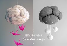 DIY #3 * Fanny pour Petit Poulou * Le mobile nuage www.petitpoulou.com