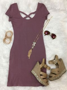 Cross on Over Dress: Plum from privityboutique