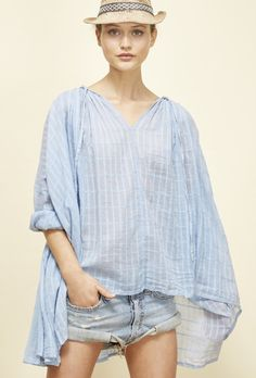 ☆  Mes Demoiselles ''Sonate'' checked cotton-jacquard blouse S/S 2016