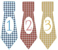 Monthly Onesie Stickers Boys Ties Our Ties by watchmegrowstickers, $9.99