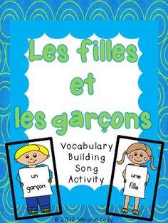 French Vocabulary Activity (song):  fille and garçon