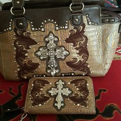 Rustic purse w/wallet RUSTIC PURSE W/WALLET Bags Shoulder Bags