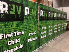Revolution Church (Crossville, TN) designed these AWESOME Economy Stand-Up banners. They meet in malls and theaters, and great signage is a MUST!