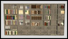 Cassandre DOTY Bookcases Sims 1, Cabin, Rustic, Bookcases, Objects, Stuff To Buy, Content, Seasons, Games