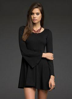 Bell Sleeve Babydoll Dress | All Dresses