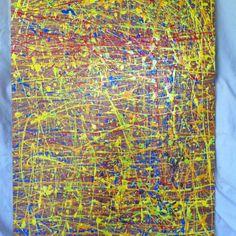 """Family Collaboration"" Painting on Wood Panel. 24x36. Created by Katherine Espy, David Espy & Thom Houston. $Sold"