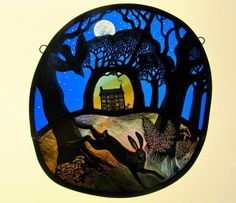 """Full Moon Woodland Cottage"" by Tamsin Abbott (10/16/16)"