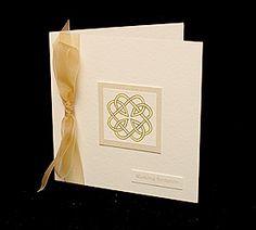 Handmade Wedding Invitations, celtic wedding invites and handmade wedding stationery by Debbie Jenkins.