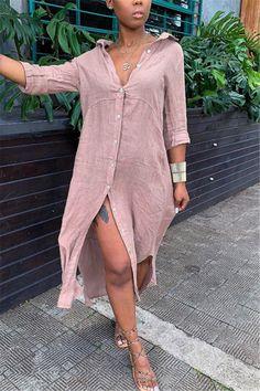Stylish Outfits, Fashion Outfits, Style Fashion, Fashion Shirts, Look Legging, Mode Kimono, Femmes Les Plus Sexy, Shirt Skirt, Linen Shirt Dress