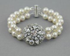 Bridal pearl bracelet  wedding jewelry bridal by LavenderByJurgita, $76.00