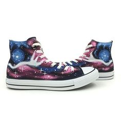 Nebula Galaxy Unisex Converse Sneakers Hand Painted Starry All Star Shoes Purple Chuck Taylor High Top Canvas, http://www.amazon.com/dp/B00U39IEPQ/ref=cm_sw_r_pi_awdm_wFEjvb0G90W1A