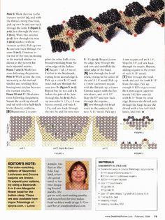Схемы: Браслеты. Архив Beads and Button (2008 - 2009 гг)