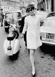 Audrey Hepburn 1960s coat mod