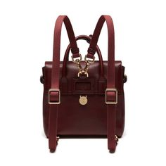 Mini Cara Delevingne Bag in Oxblood Natural Leather | Cara Delevingne | Mulberry