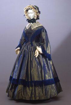 1855 Abito femminile in due pezzi.From the Galleria del Costume di Palazzo Pitti via Europeana Fashion