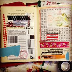 Would be good to use as a scrapbook...although I hate the idea of using a book like that. :(