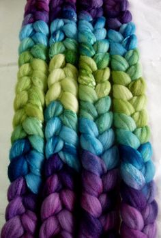 Ultra soft merino wool & silk roving, handpainted, for handspinning and wet felting, 3.5oz/100g - $22
