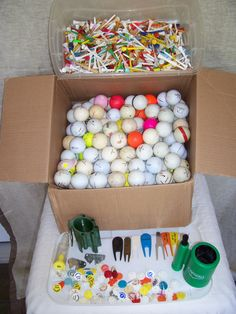 Brands - ( that is 29 cents per ball ! ) 647 tees included by on Etsy Vintage Golf Clubs, Foot Massage, Golf Ball, Balls, Tees, T Shirts, Tee Shirts, Teas, Shirts