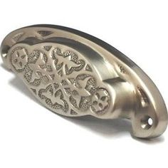 Cal Crystal Georgian Vine Cup Pull From The Vintage Brass Collectio Satin  Nickel Cabinet Hardware Pulls Cup