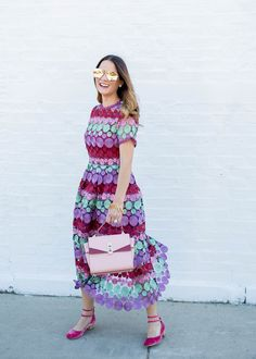 Multicolor lace dress // Style Charade