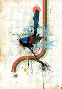 Here are 3 new AMAZING prints by artist Blaine Fontana . Artist Painting, Painting & Drawing, Urban Street Art, Urban Art, Jr Art, Unusual Art, Fantasy Illustration, Street Art Graffiti, Bird Prints