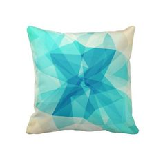 Blue Abstract Design Throw Pillow