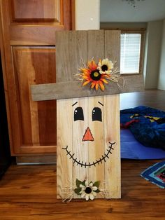 Thanksgiving - Fall decor ideas for the porch - Fall Wood Crafts, Halloween Wood Crafts, Pallet Crafts, Pallet Art, Diy Halloween Decorations, Wooden Crafts, Thanksgiving Decorations, Holiday Crafts, Halloween Halloween