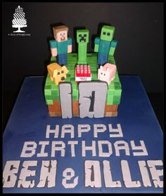 Minecraft Cake - A Slice of Happiness