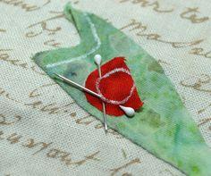 sandra leichner | how to applique tiny tiny berries