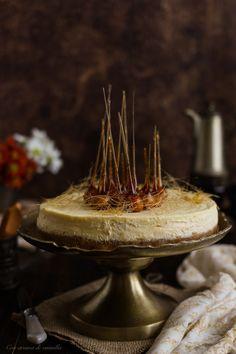 Cheesecake de ricotta y nueces de macadamia caramelizadas | Con aroma de vainilla