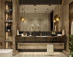 Modern Luxury Bathroom, Modern Contemporary Bathrooms, Bathroom Design Luxury, Modern Bathroom Decor, Bathroom Layout, Bathroom Styling, Washroom Design, Toilet Design, Home Room Design