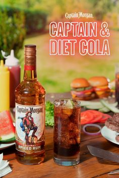 Mothers Day Brunch Discover Captain & Diet Cola a spring rum cocktail crafted to remind you just how nice drinks on your own porch can really be. HOW TO MAKE: Combine oz Captain Morgan Original Spiced Rum 3 oz Diet Cola garnish w/ lime. Captain Morgan, Extra Recipe, Alcoholic Drinks, Cocktails, Alcohol Drink Recipes, Cough Remedies, Mothers Day Brunch, Spiced Rum, Anti Aging Cream