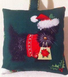 Scottie Dog Christmas Gift / Scottie Dog Fabric Lavender Bag / Stocking Filler