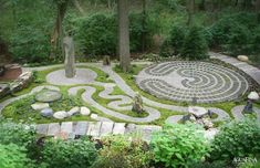 Labyrinth Design, Labyrinth Garden, Labyrinth Maze, Prayer Garden, Meditation Garden, Walking Meditation, Meditation Corner, Daily Meditation, Meditation Music
