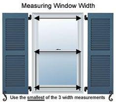 Operable & Decorative Shutters - How To Measure: ShutterContractor.com