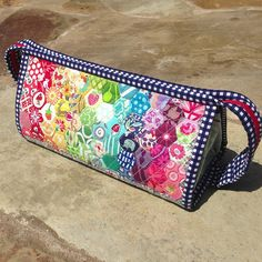 Rainbow Hexie Sew Together Bag by Three Owls, via Flickr