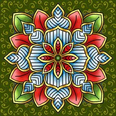 """FredSheSaid - Digital Design & Papercrafting Goodness: """"Snowflake Flower"""" - another version."""